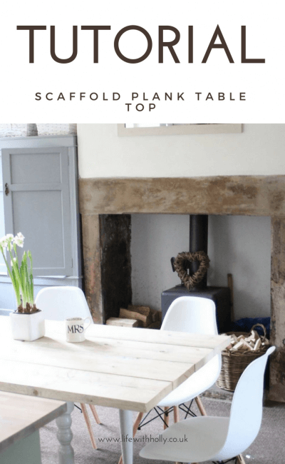 TUTORIAL – Rustic Scaffold Plank Dining Table How To!