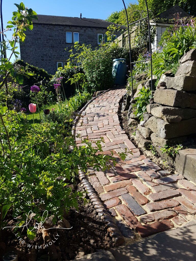 Brick Path Cottage Garden - North Facing Yorkshire Garden - My Garden in May - Life with Holly