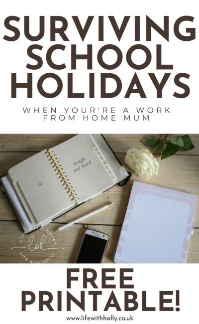 Surviving School Holidays – 5 Tips from a Work from Home Mum