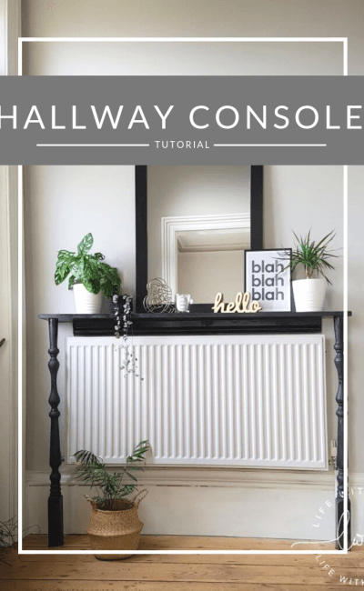 Victorian Hallway Makeover – Custom Console Table Tutorial