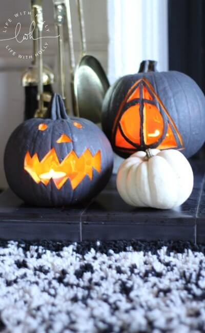 Modern Monochrome Halloween Pumpkins – a Tutorial