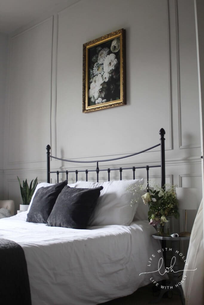 Grey Victorian Period Bedroom with Wall Panelling by Life with Holly