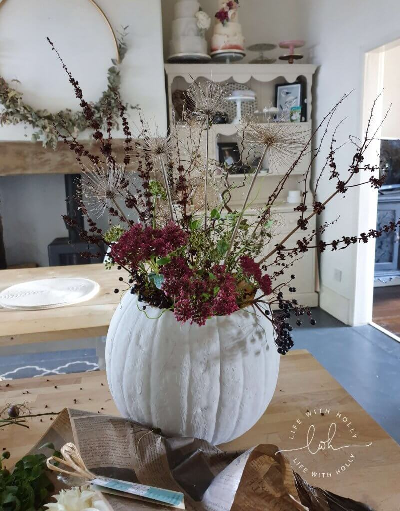 Autumnal Decor Pumpkin Vase Tutorial by Life with Holly