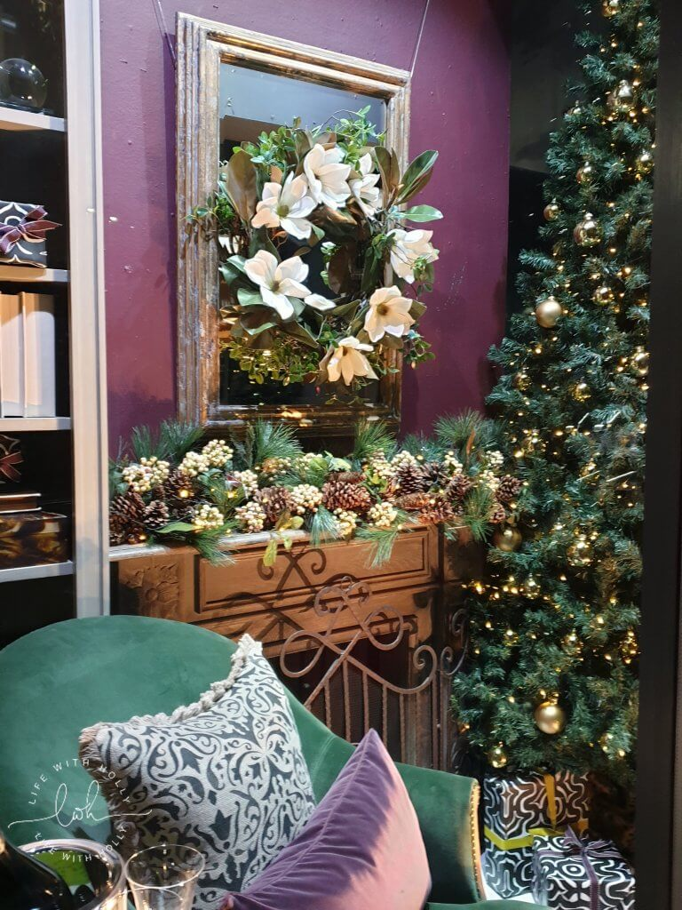 Faux Christmas Wreath Workshop with OKA Harrogate by Life with Holly