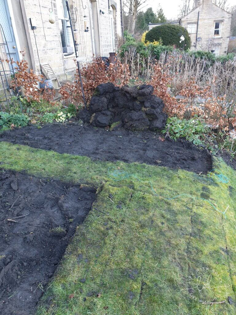 Removing Turf North-East-Facing-Garden-New-Flower-Bed-Plants-for-Shade-by-Life-with-Holly